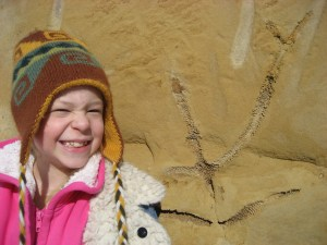 Madi with a Fossil