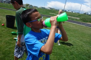 Alex staying hydrated