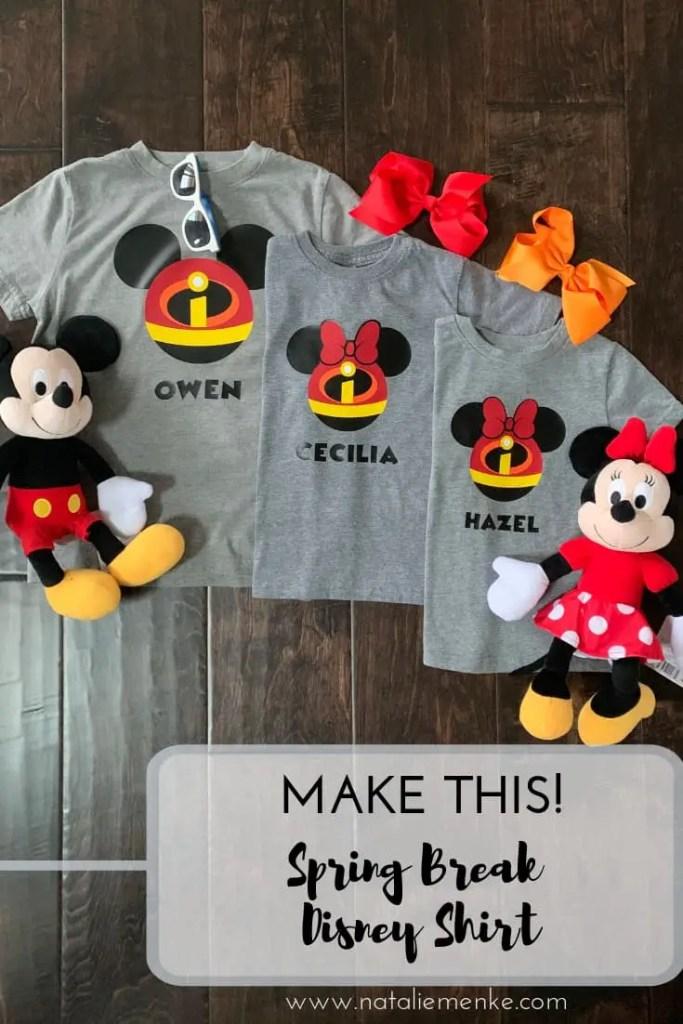 Make this Spring Break Disney t-shirt using the Cricut tutorial at NatalieMenke.com