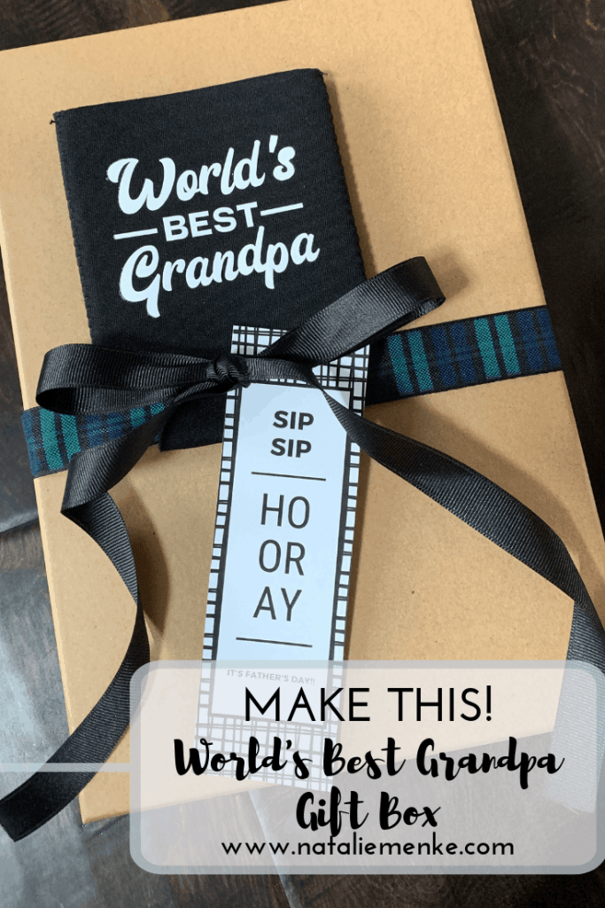 Give this World's Best Grandpa Gift Box and find inspiration for compiling a customized box at www.nataliemenke.com