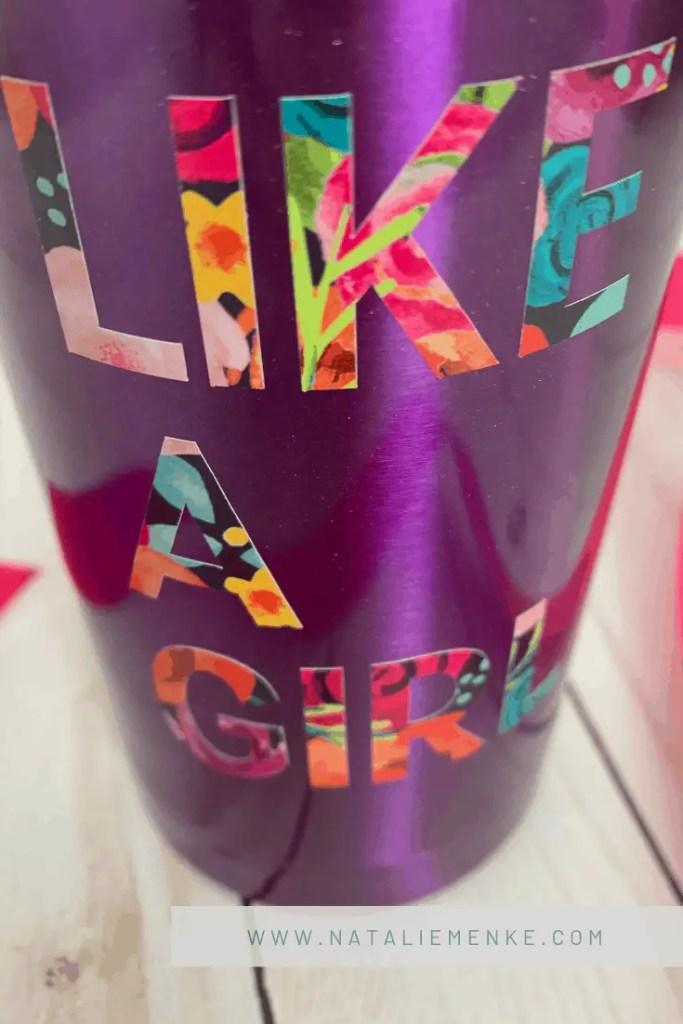 DIY Fight Like A Girl Floral Tumbler | Natalie Menke