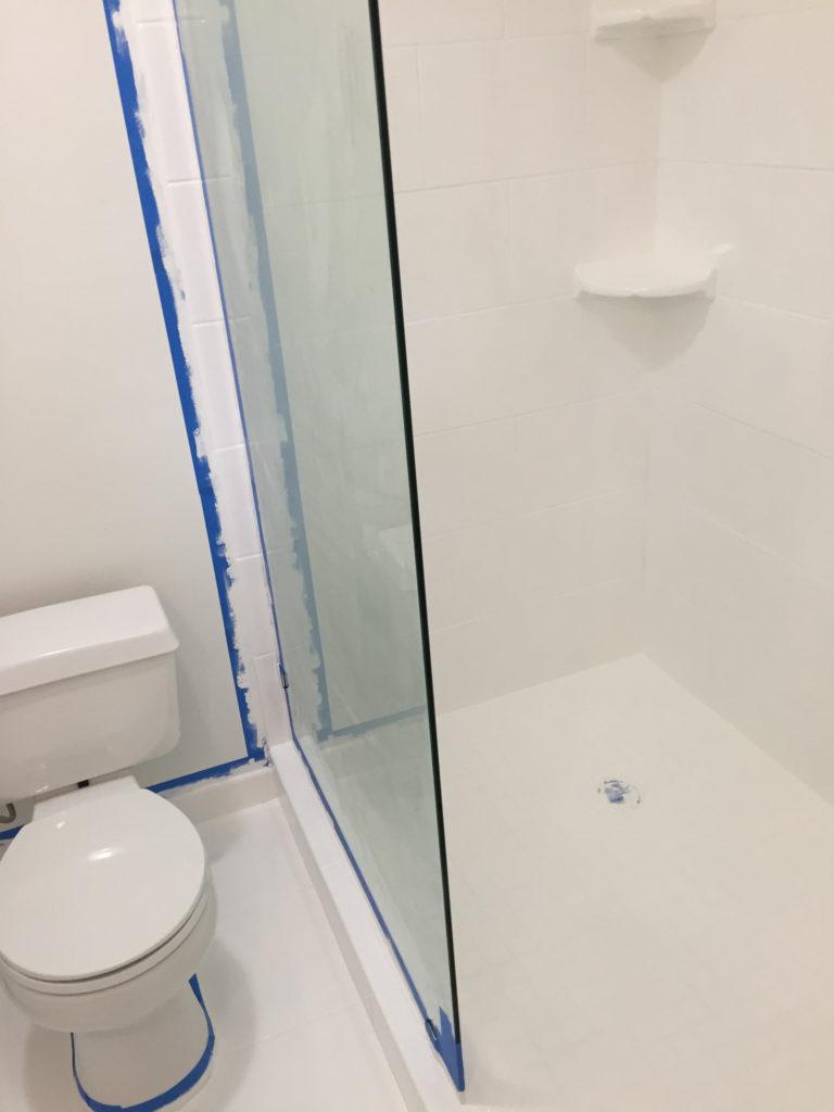 paint shower tile