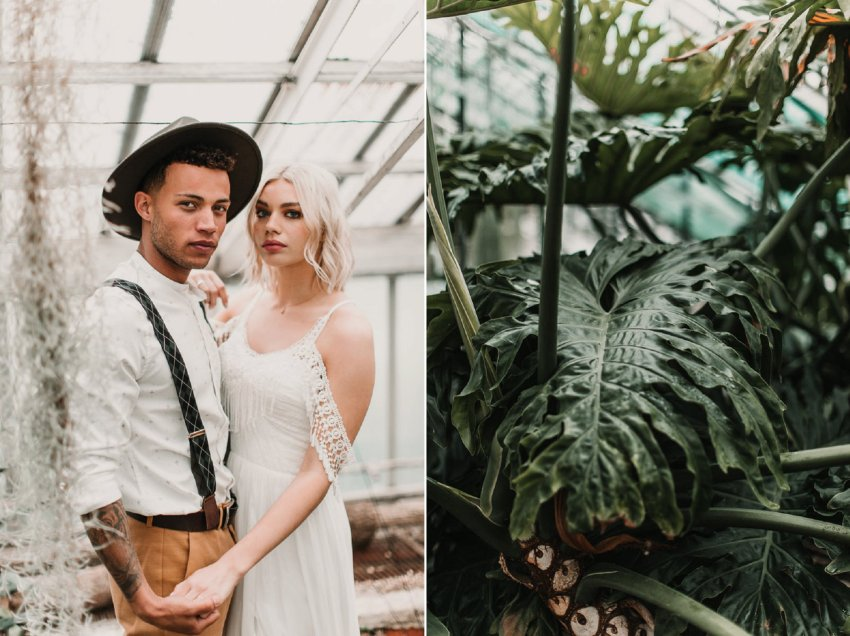Wedding in a palm house? Yes please!! Blush and green Bohemian Wedding Inspiration bringing a little California to you where ever you are in the world. Relaxed styling and desert inspiration and vibes. Wedding ideas for boho brides who an effortlessly relaxed, bohemian wedding. Shot by Natalie Pluck Photography. See full blog post for credits and more inspiration here http://www.nataliepluck.com/bohemian-wedding-inspiration/ 