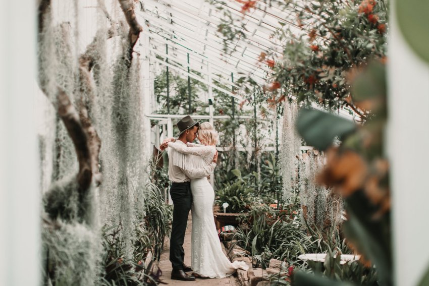 The dreamiest setting for your boho elopement, a palm house in the winter. Perfection. Blush and green Bohemian Wedding Inspiration bringing a little California to you where ever you are in the world. Relaxed styling and desert inspiration and vibes. Wedding ideas for boho brides who an effortlessly relaxed, bohemian wedding. Shot by Natalie Pluck Photography. See full blog post for credits and more inspiration here http://www.nataliepluck.com/bohemian-wedding-inspiration/ 