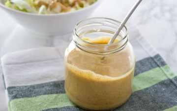 Mustard with honey and ginger salad dressing | www.natalieshealth.com
