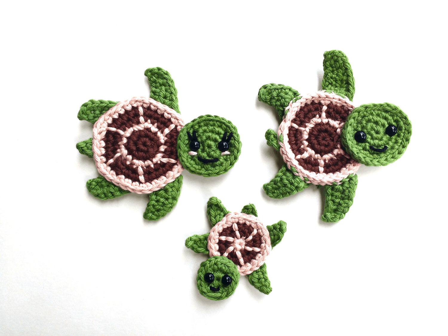 Free Crochet Pattern: Sea Turtle Appliques | Natalina Craft