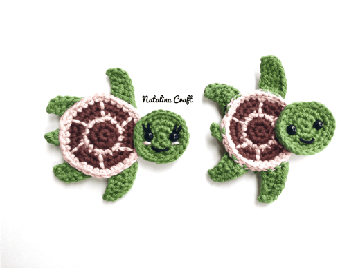 Crochet Turtle Appliques Free And Easy Patterns