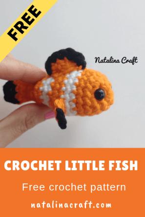 Free Amigurumi Pattern: Little Fish — BuddyRumi | 446x297