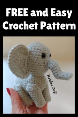 Crochet Little Elephant : Free and quick amigurumi pattern