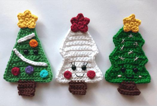 Crochet Christmas Trees Free Patterns.Free Crochet Patterns Christmas Tree Appliques Natalina