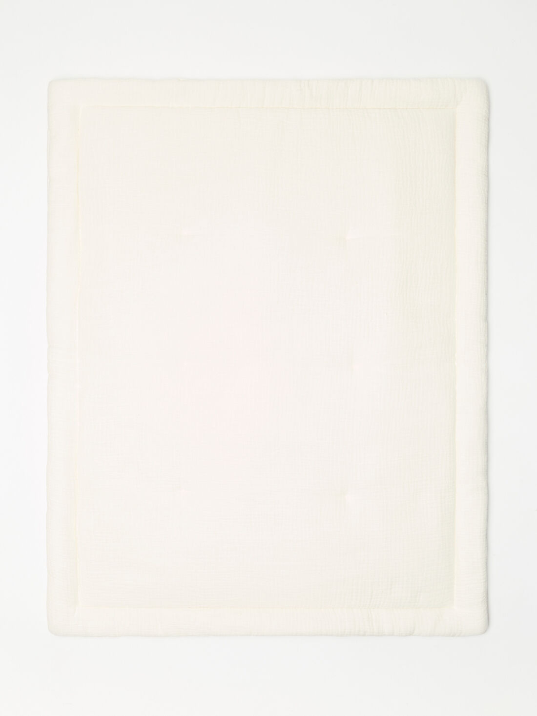 tapis d eveil ecru en gaze de coton mixte