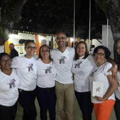 Durante o lançamento do livro Bichos: poesias desenhadas. Salvador, 19.08.2017.