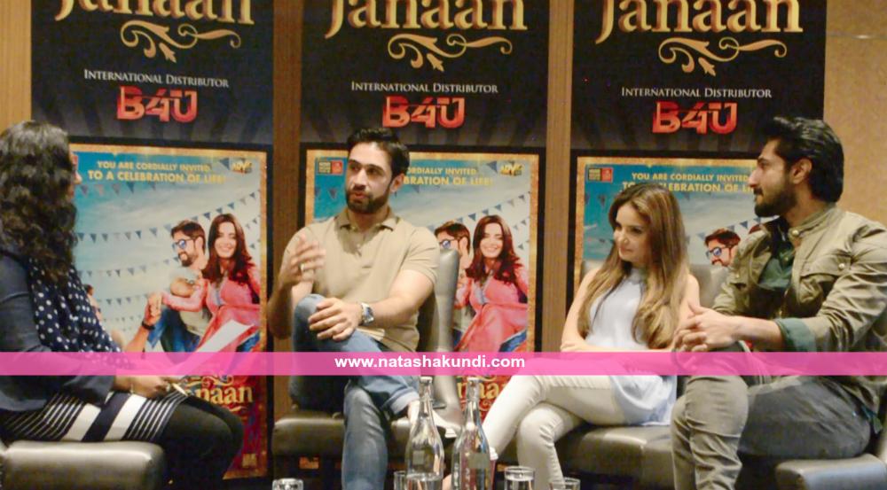 janaan pakistan film movie interview armeena khan bilal ashraf ali rehman khan london uk