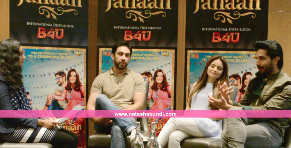 janaan pakistani film movie interview bilal ashraf armeena khan ali rehman khan london uk press meet 3