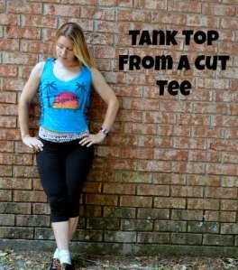 DIY T-Shirt Tank Top |  Ways to Cut a T-Shirt into a DIY Tank