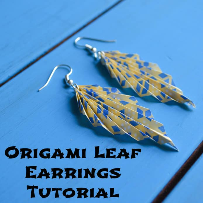 Origami Paper Leaf Earring Tutorial Homemade Gift Ideas
