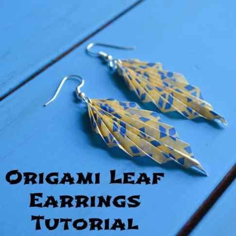 Origami Leaf Earrings Tutorial