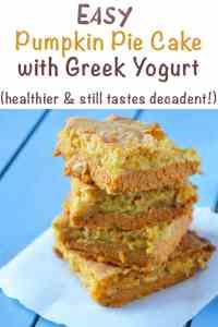 Easy pumpkin pie cake recipe with Greek yogurt