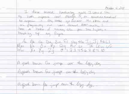 before handwriting