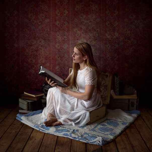 Reading Takes you Places - fine art self portrait