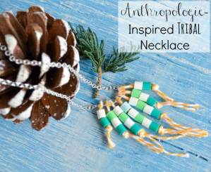 Anthropologie-Inspired Tribal Necklace with Perler Beads and Baker's Twine