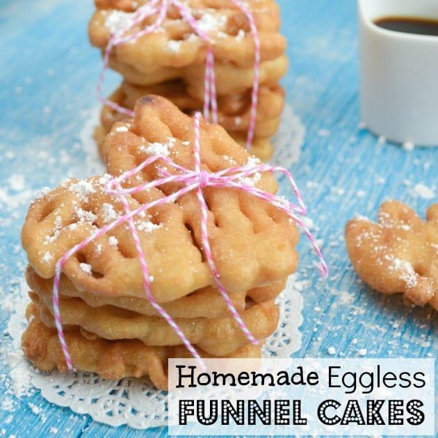 Homemade Eggless Funnel Cakes