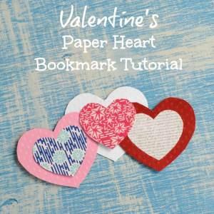 Valentine's Paper Heart Bookmark for Valentines Tutorial