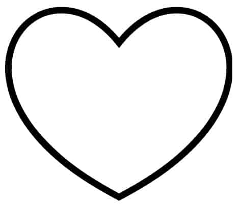 Juicy image for printable heart template