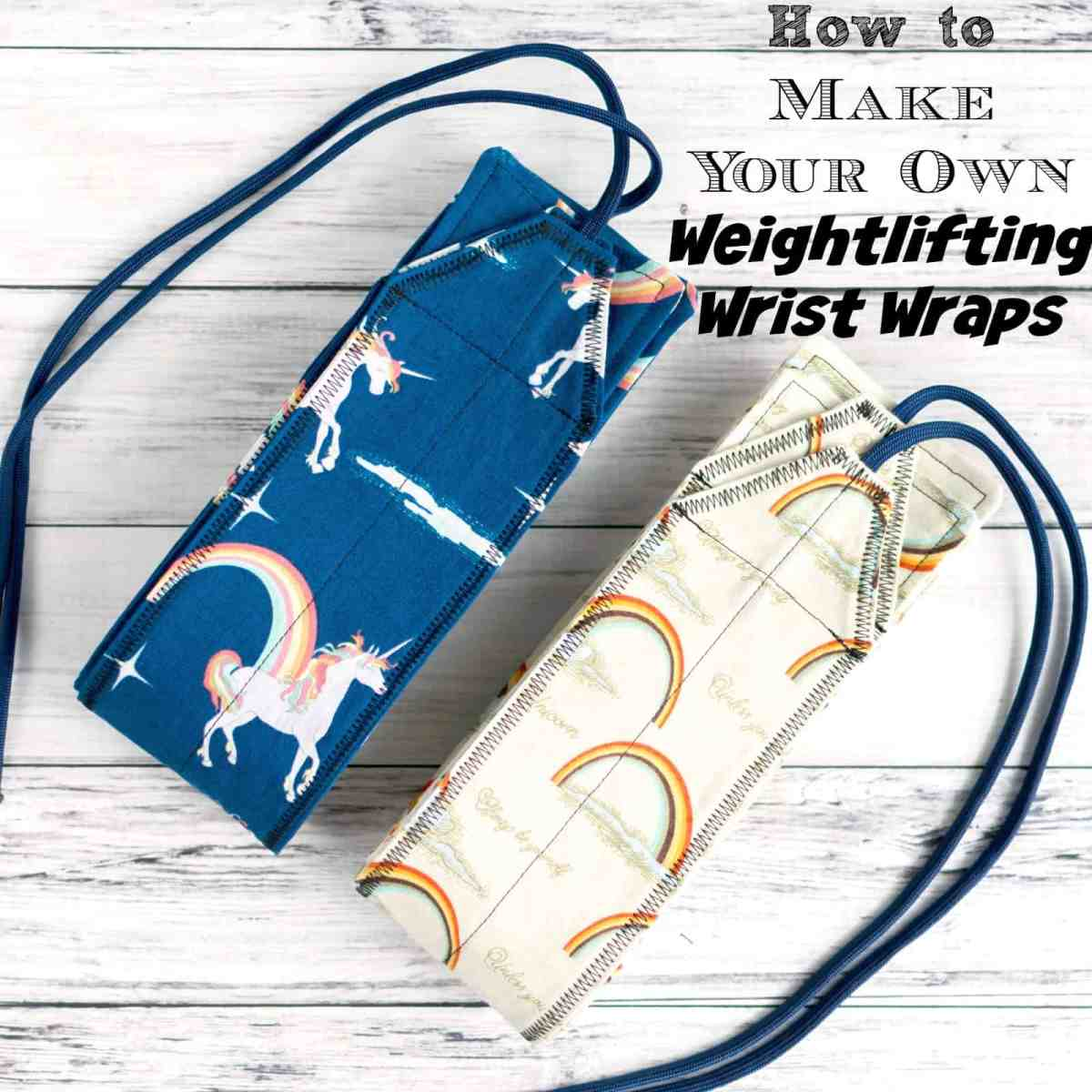 DIY Weightlifting Wrist Wraps Tutorial + Pattern
