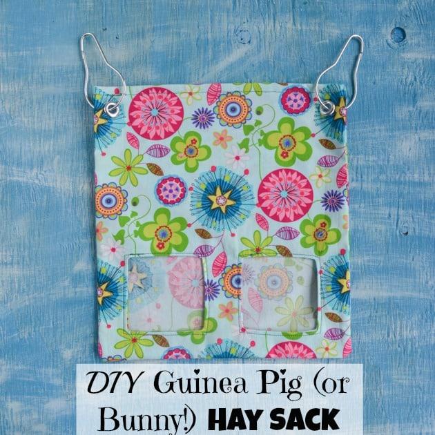 How To Make A Fabric Guinea Pig Or Bunny Hay Sack Bag