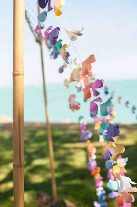 Diy paper flower garland lei tutorial with free printables and materials for diy paper flower lei garland mightylinksfo