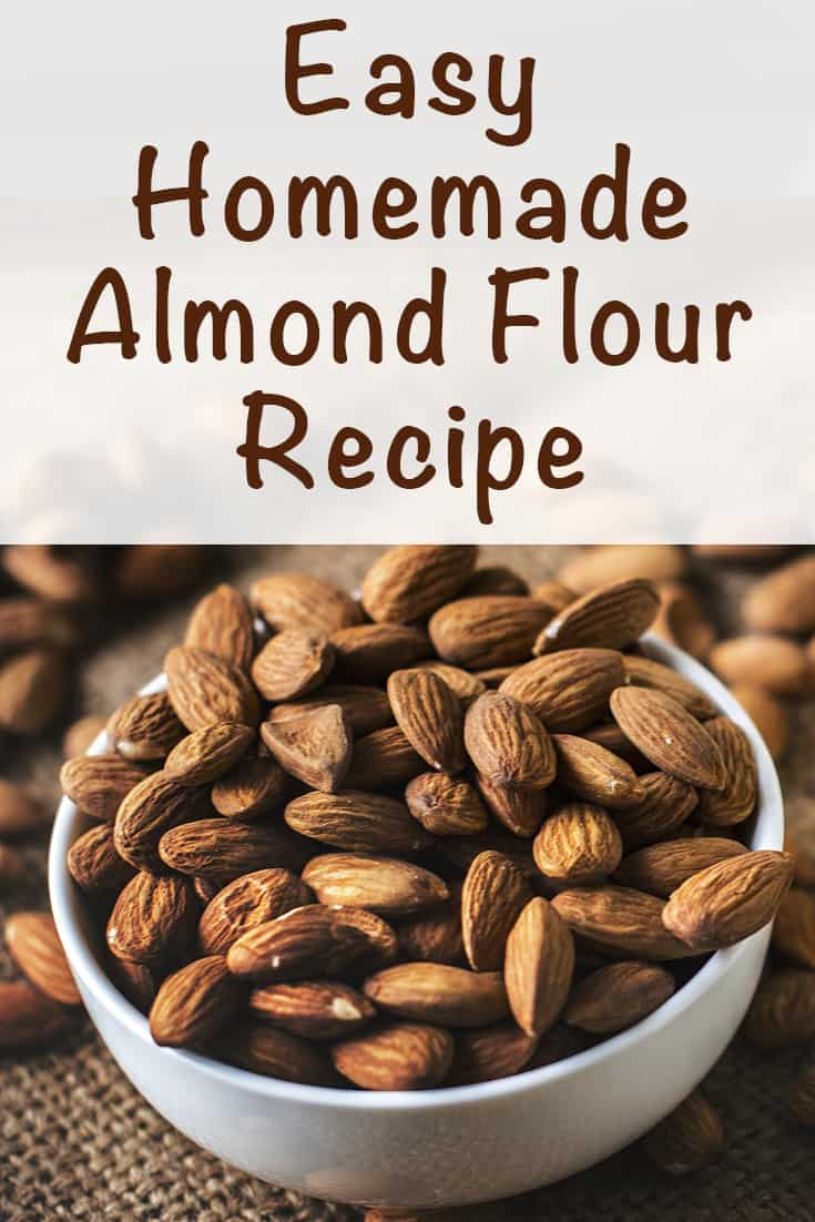 easy homemade almond flour recipe. Learn how to make your own gluten free flour quickly and cheaply!