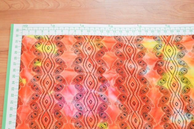 cutting mat and fabric