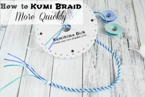 How to Kumi Braid More Quickly with your Kumihimo Braiding Disk