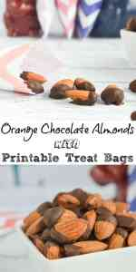 Orange Chocolate Dipped Almonds with Treat Bag Printable