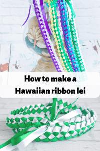 How to make a Hawaiian braided ribbon lei