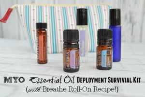 Breathe Essential Oil Roll On Recipe & Deployment Survival Kit