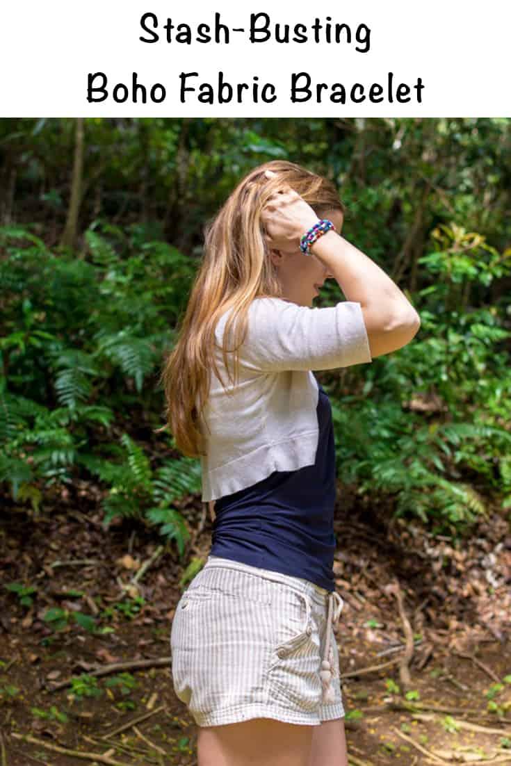 stash-busting boho fabric bracelet tutorial