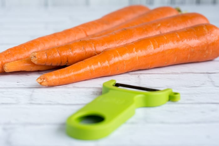 carrots and Swiss peeler