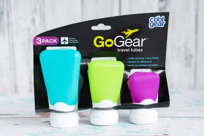go gear silicone travel containers