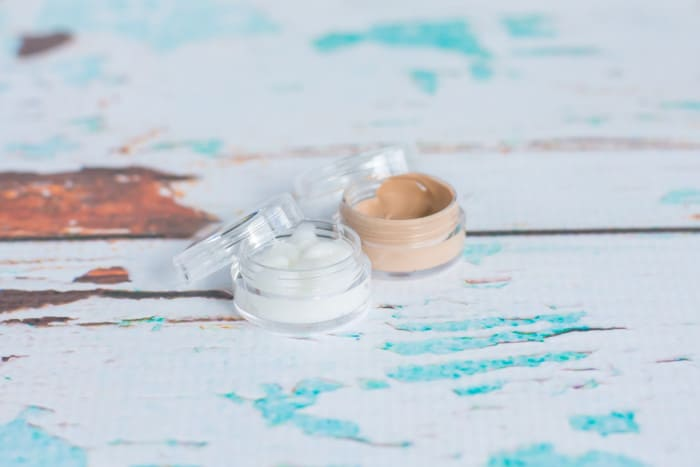repackage lotion and foundation in smaller continers for travel