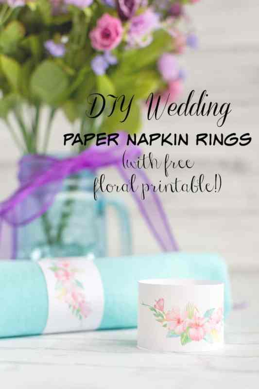 Diy wedding floral paper napkin rings tutorial printable the diy wedding paper napkin rings with free printable solutioingenieria Images