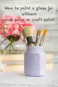Upcycled Honey Jar Organizer - Cottage Chic Painted Glass Jar Tutorial