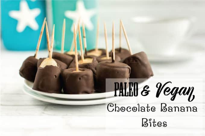 Paleo Vegan Chocolate Banana Bites