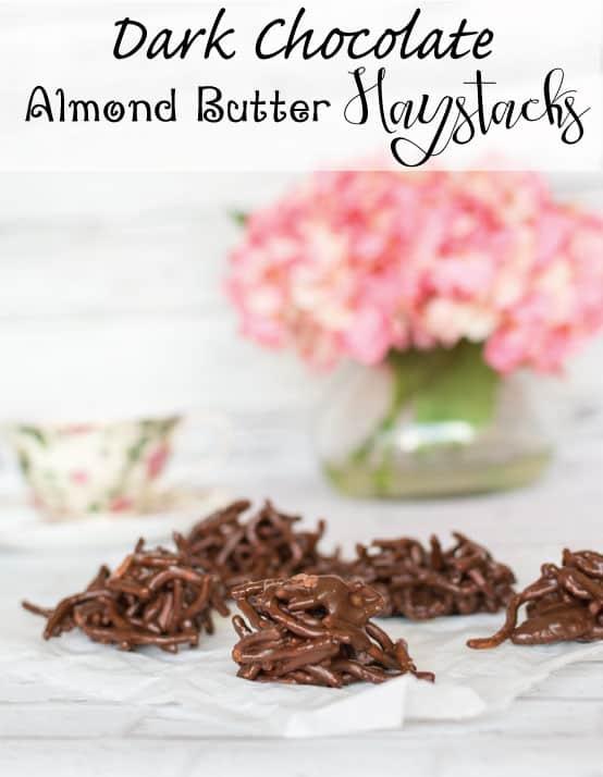 Dark Chocolate Almond Butter Haystack Cookies