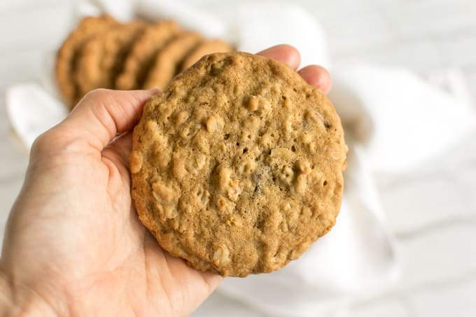 bakery style oatmeal granola cookies