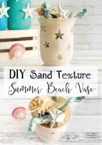 Sandy Texture Summer Beach Vase Tutorial - with free Silhouette Studio file!
