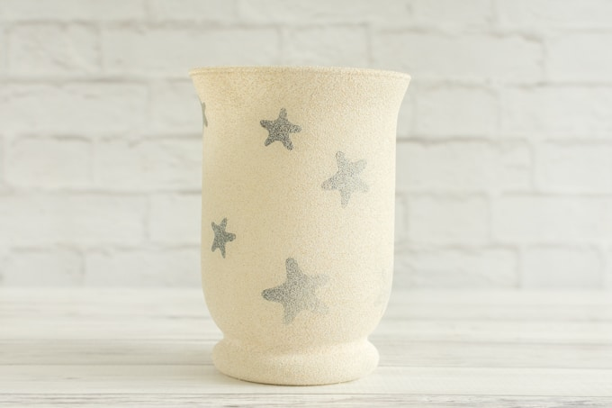 vase painted with sandstone texture