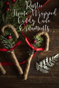 Rustic Twine Candy Cane Ornaments