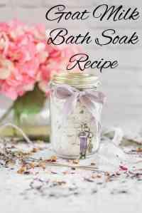 Goat Milk Bath Soak Recipe